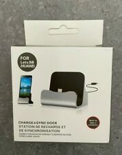 Charge & Synch Dock USB-C  Cable Cradle Stand Holder Charging Samsung/LG