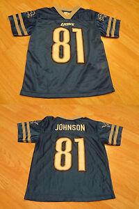 Youth Detroit Lions Calvin Johnson M (8) Jersey NFL Team Apparel Jersey