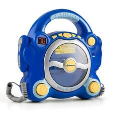 AUNA STEREO KINDER KARAOKE PARTY MUSIKANLAGE CD PLAYER 2 MIKROS BLAU BATTERIE