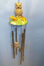 Owl on Branch Wind Chime Home Garden Deck Porch Decoration New