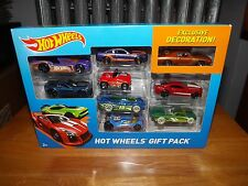 HOT WHEELS 9 CAR GIFT PACK, CHARGER, Z06, MUSTANG GT, CAMARO,  NIB 2014