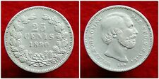 Netherlands - Zeldzame 25 Cent 1890 a