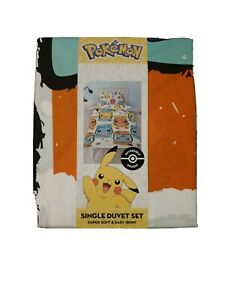 Pokemon Single Duvet Cover Set - Reversible design.