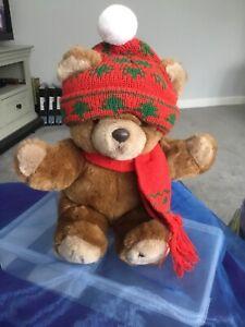 HARRODS Christmas Teddy Bear 1987 Knightsbridge Gift
