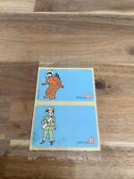 Étiquette de cahier Tintin. Offert par LU. HERGÉ 1994