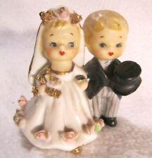 Vtg. Lefton Bride & Groom Bell Figurine 1756(?) ~1950's~ Cake Topper?