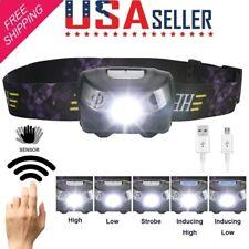 USB Rechargeable LED Headlamp Headlight Head Torch Sensor Flashlight Waterproof