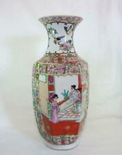 More details for antique late 1800 big chinese famille rose vase decorated with hand painting