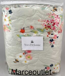 Yves Delorme Paris Boudoir FULL / QUEEN Quilted Coverlet Multi