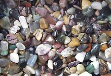 200gms Assortment Tumbled Gemstones  Agate Rhodonite Amethyst Quartz