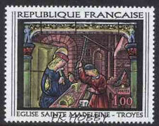 France 1967 Mi 1598 ** Witraż Painting Gemälde Peinture Art Malarstwo
