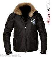 AKITO ACID BF Black Textile Motorcycle/Motorbike Jacket with HOOD - Size XL