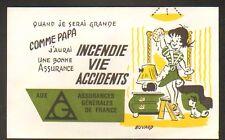 Buvard / A.G.F. INCENDIE VIE ACCIDENTS / Ménagére