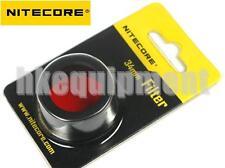NiteCore NFR34 34 mm Red Lens Cap Filter for EC25 MT25 MT26 Flashlight