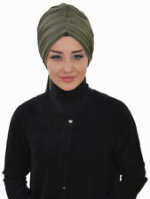 BO-01 Fertig Kopftuch Praktisch Hijab Bone Türban Esarp Sal Tesettür Khimar