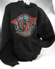 Vintage CLEVELAND HOODIE Sweatshirt 107.3 FM radio station Very Heavy LARGE