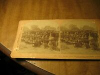 1900 Vintage Stereoview Card 4th Infantry Boys Repulsing A Attack At Imus Luzon