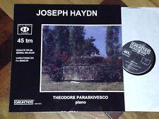 "SARASTRO AUDIOPHILE FRENCH 12"" 45 RPM KILLER SOUND BRAHMS THEODORE PARASKIVESCO"