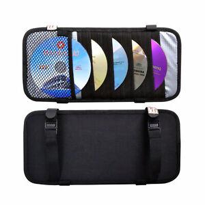 TFY Triple-layer Leather 30 CD/DVD Disks Holder Visor Organizer for Car Storage