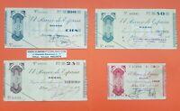 BILBAO 5+25+50+100 PESETAS 1936 EUSKADI GUERRA CIVIL 1937 BILLETES de EUZKADI 1
