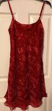 NAUTICA NEw Rose M Floral Burn Out Spaghetti Strap Slip Sleepwear Cami Gown