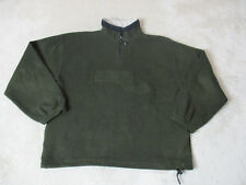 VINTAGE Perry Ellis America Fleece Jacket Adult Extra Large Brown Spell Out 90s