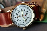 Sturmanskie Mens Mechanical Watch Raketa Aviator Vintage military Watch Serviced