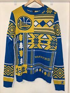 KLEW x GOLDEN STATE WARRIORS Ugly Christmas Sweater size S sweatshirt crewneck