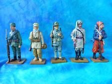 """5 soldats de plomb Delprado -  """"Deux guerres mondiales"""" BU 6 - lot 1"""