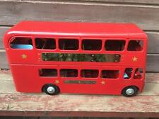 "Vintage Pressed Steel L.B.TRIANG Red Double Decker Routemaster Bus 23"" Restored"