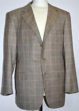 Ermenegildo Zegna Switzerland Brown/Beige 80% Cashmere/20% Silk Sport Coat 42R