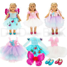 For American Girl 18� inch Dolls Clothes Outfit Fairy Princess Dress Butterfly