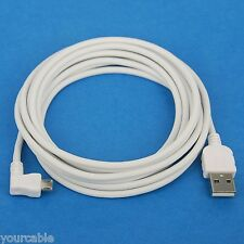 3M Fast Charger ONLY Right Angle Micro USB Cable WHITE for Android phone tablet