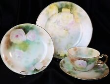 ANTIQUE ROYAL BAYREUTH Fine China 4-Pc Place Setting Her Majesty Roses