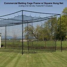 80' Baseball Batting Cage Nets Hitting Batting Tunnel Netting w/Door