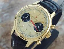 Helbros Invincible Swiss Made Men Gold Plated Chronograph 1970 Luxury Watch LA75