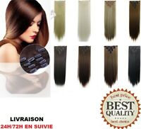 Extension A Clips Cheveux Mixtes Remy Lisses Bresilien Naturel 60cm