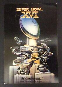 """Super Bowl XVI 1982 San Francisco 49ers Vs Cincinnati Bengals Postcard 7.5"""""""