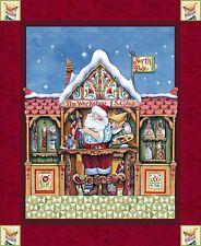 "Jim Shore Santa Elf Panel 100% cotton 43/44"" Fabric by the panel"