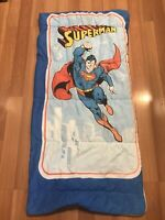 "Vintage Superman Youth Kids Sleeping Bag Blanket 1970's 54""x28"" Decent Shape"