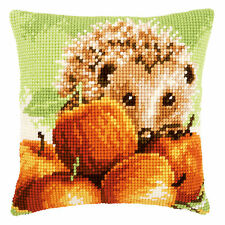 Hedgehog with Apples :Vervaco Chunky Cross Stitch Cushion Kit - PN0155865