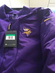 MENS Nike Shield MINNESOTA VIKINGS Bomber Jacket NFL Size XL PURPLE NWT $200