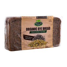 Organic Rye Bread with Chia & Golden Flax Seed 350g - Free UK Delivery
