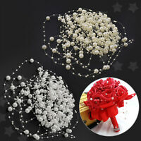 Acrylic Pearl Bead Hanging String Wedding Bridal Garland Bouquet Gifts Decor