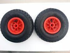 2 x Launching wheels 20mm hub 260 x 85mm  boat pneumatic  Dinghy jockey wheel
