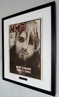 Nirvana Kurt Cobain Luxury Framed Original NME-Plaque-Certificate-VERY VERY RARE