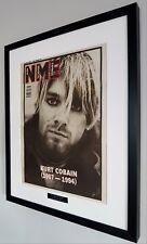 More details for nirvana kurt cobain luxury framed original nme-plaque-certificate-very very rare
