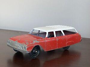 "Vintage Tootsietoy Ford Galaxy Station Wagon 1962 Red White 5 1/2"" Original"