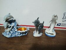 Lot Of 3 Dolphin Figures