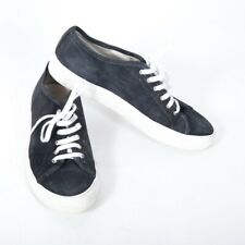 Common Projects Achilles sneakers Lace Up Blue Gray Suede White Sole 37 sz 7